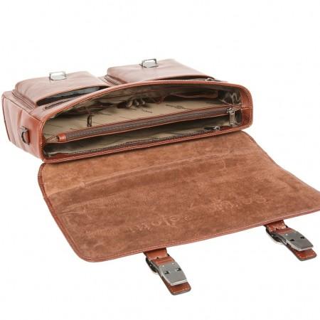 Портфель Sergio Belotti 9276 milano brown