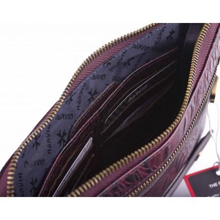 Клатч мужской кожаный NarVin 9438 N.Bambino Burgudy