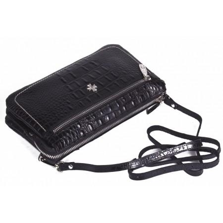 Клатч кожаный NarVin 9449-N.Bambino Black